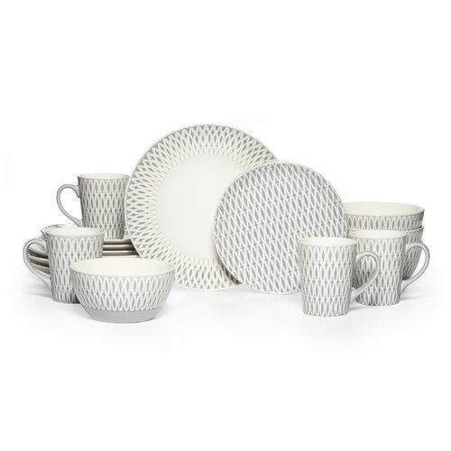 Gourmet Basics Aurora 16 Piece Dinnerware Set