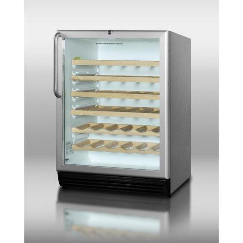 Summit Appliance 26 Bottle Single Zone Built-In Wine Refrigerator
