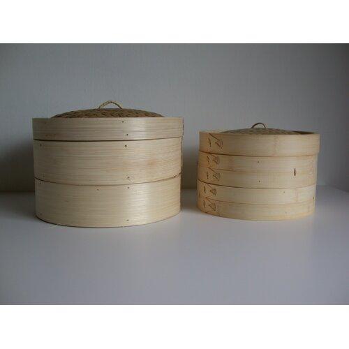"""Taylor & Ng 3 Piece 10"""" Bamboo Steamer"""