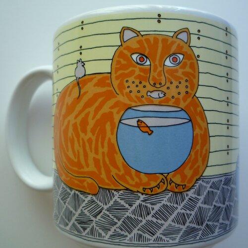 Taylor & Ng Classy Critter 11 oz. Kitty Katfish Mug