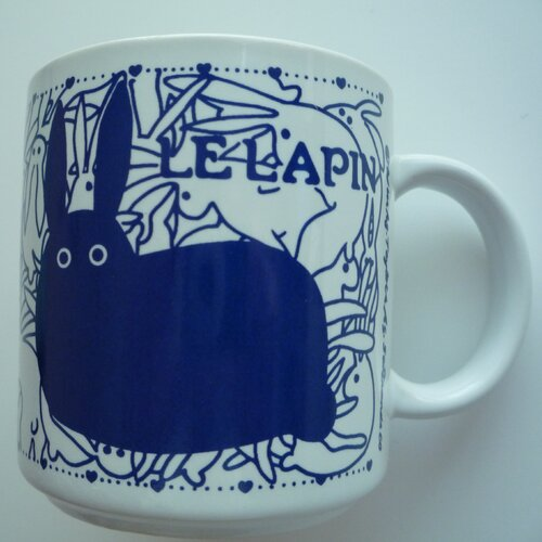 Taylor & Ng Vintage French 11 oz. Le Lapin (Rabbit) Mug