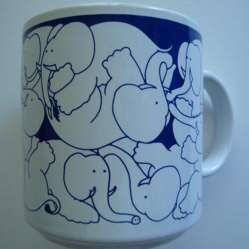 Taylor & Ng Animates 11 oz. Nitetime Elephants Mug