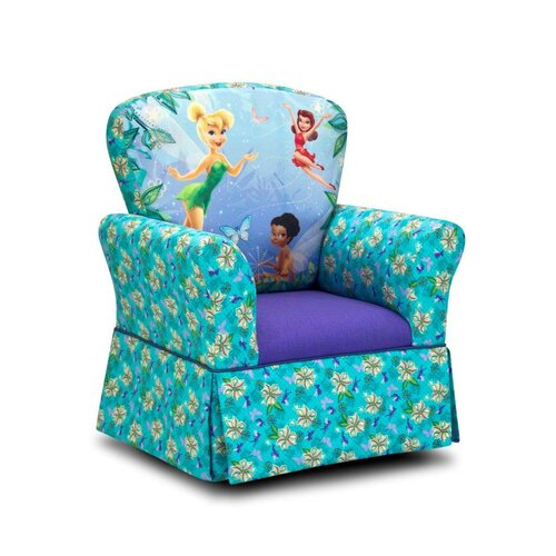 Kidz World Disney Kids Fairies Skirted Rocking Chair