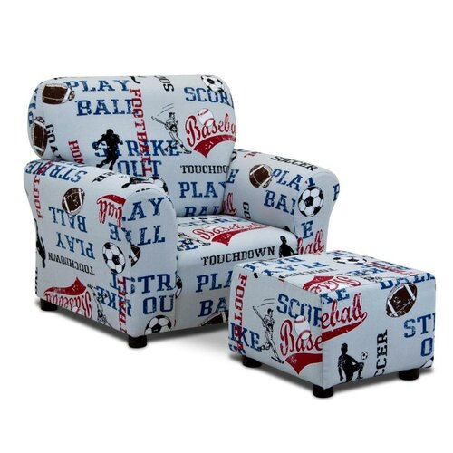Kids Sports Club Chair and Ottoman