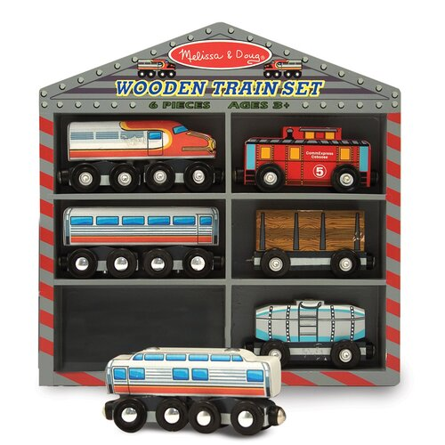 Melissa and Doug Diesel Train Cars