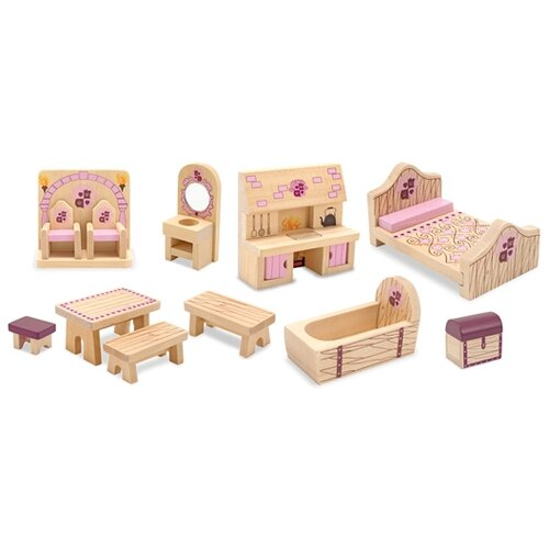 Melissa and Doug Princess Castle Furniture Set