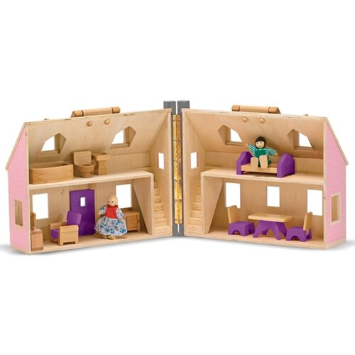 Melissa and Doug Fold and Go Mini Dollhouse