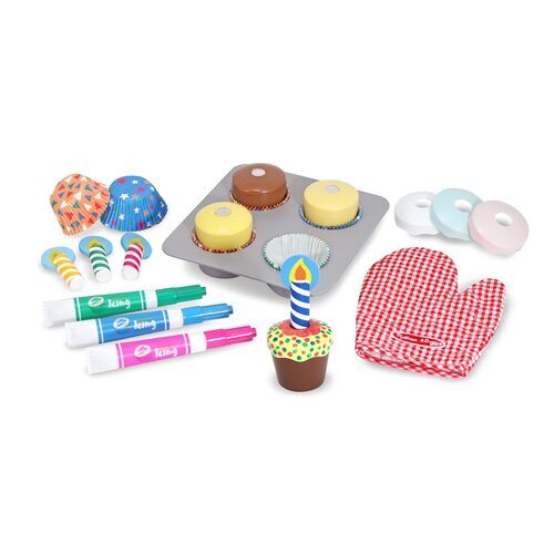 Melissa and Doug Bake and Decorate Cupcake Set