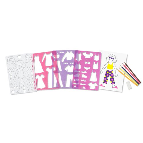 Melissa and Doug Fashion Fun Stencil Set