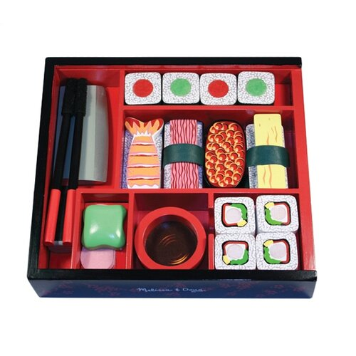 Melissa and Doug 24 Piece Sushi Slicing Box Play Set