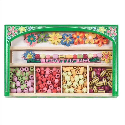 Flower Power Wooden Bead Set Arts & Crafts Kit