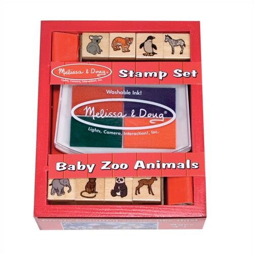 Melissa and Doug Baby Zoo Animals Stamp Set Arts & Crafts Kit