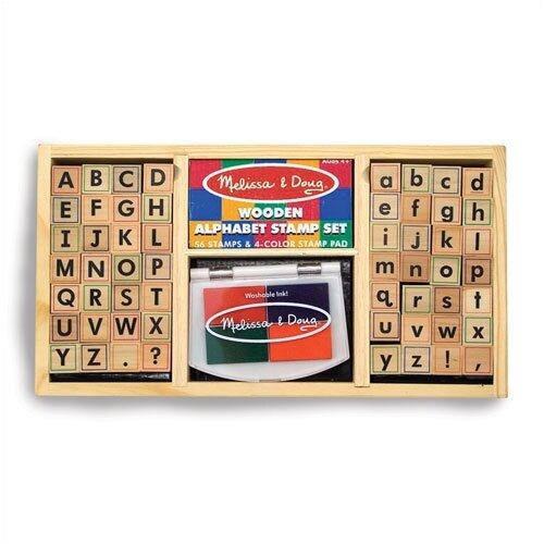 Melissa and Doug Alphabet Stamp Set Arts & Crafts Kit