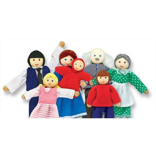 Melissa and Doug Happy Family Doll Set