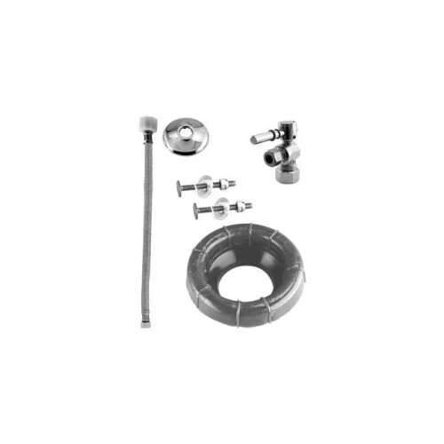 Westbrass Wax Ring and  Ball Valve Toilet Kit with Lever Handle