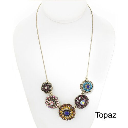 Artisans International Vintage Topaz Necklace