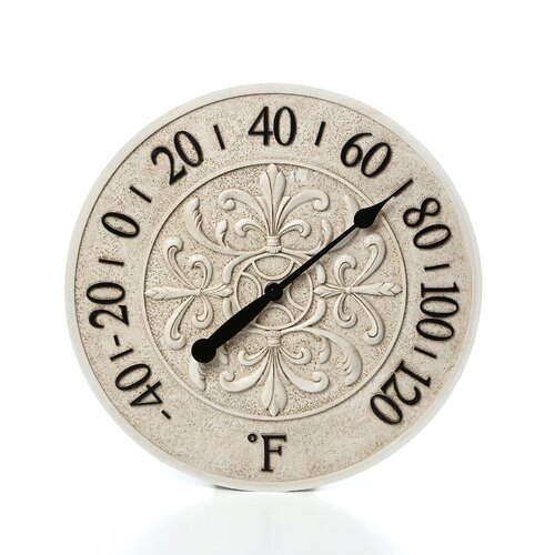"Infinity Instruments 15"" Le Blanc Fleur Wall Clock"