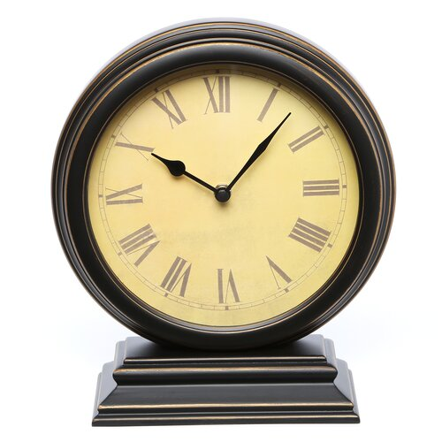 Infinity Instruments Distressed Round Table Clock
