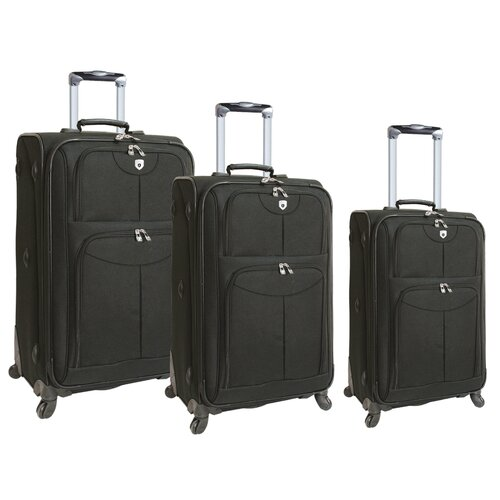 Travelers Club Quattro 3 Piece Expandable Spinner Luggage Set
