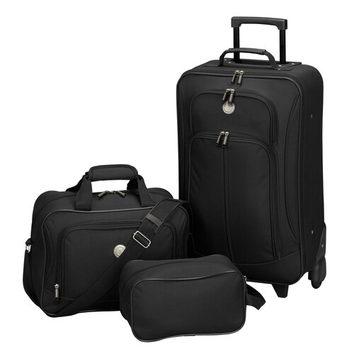 Travelers Club EuroValue II 3 Piece Rolling Luggage Set
