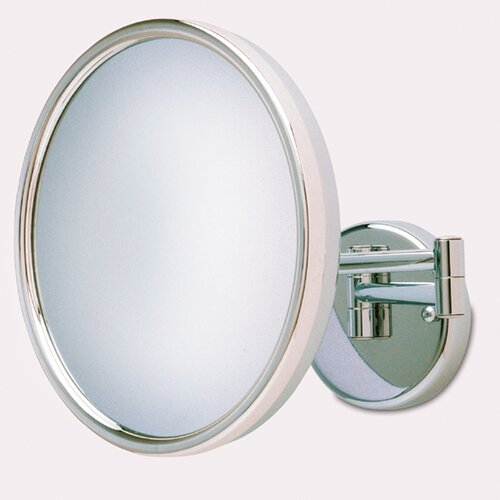 Jerdon Lighted 5x Magnifying Hard Wired Wall Mirror