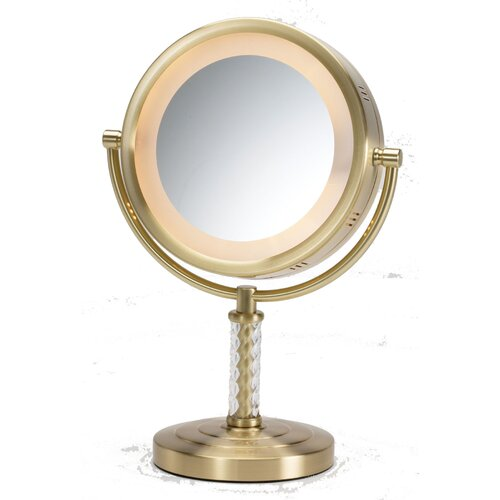 jerdon dual sided halo lighted vanity mirror reviews wayfair