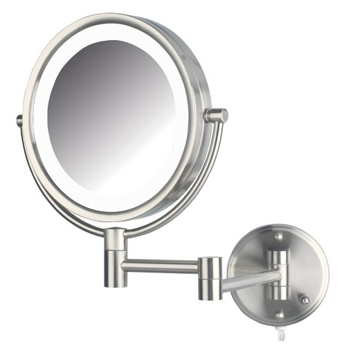 jerdon dual sided wall mount lighted mirror reviews wayfair. Black Bedroom Furniture Sets. Home Design Ideas