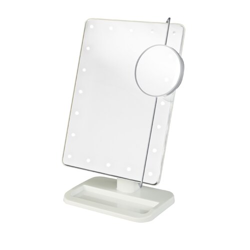 Portable LED Lighted Tabletop Makeup Mirror
