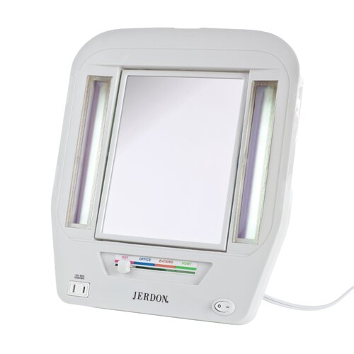 Euro Tabletop Lighted Makeup Mirror
