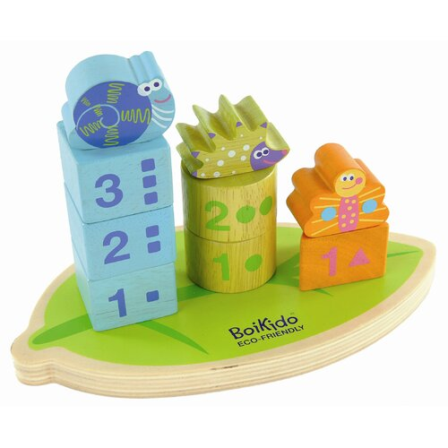 Wooden Stack & Count Shapes