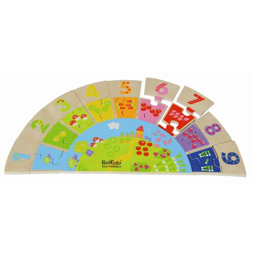 Boikido Wooden Rainbow Numbers