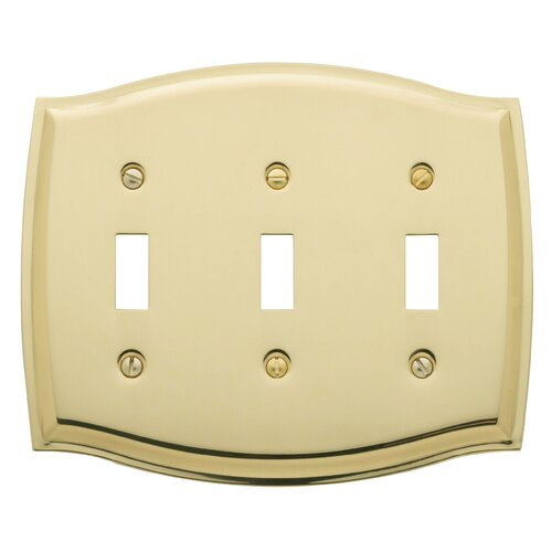 Colonial Design Triple Toggle Switch Plate