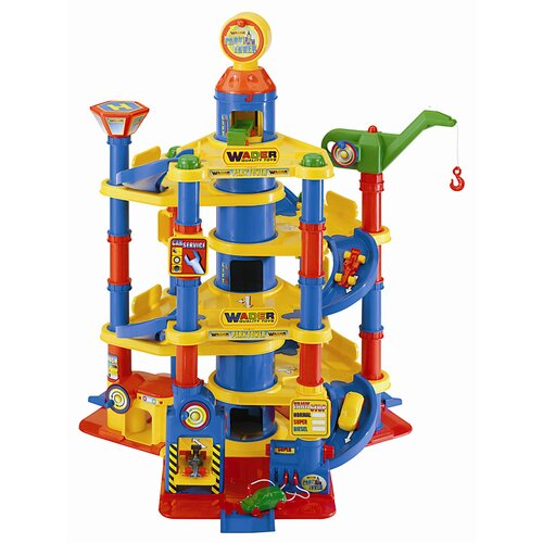 Children's Parking Tower with 7 Floors and 2 Cars