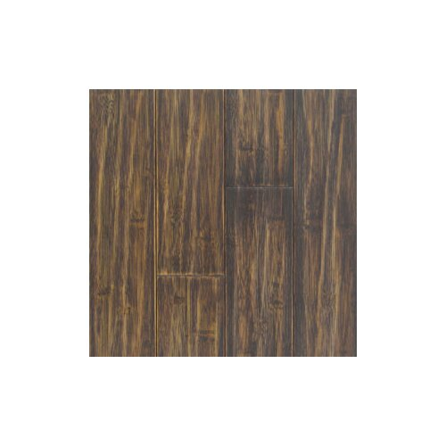 "Hawa Bamboo Distressed Prefinished Horizontal 3-3/4"" Solid Bamboo Flooring in Black"
