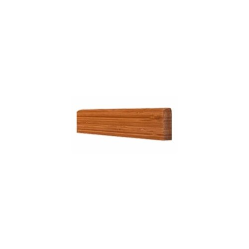 "Hawa Bamboo 0.44"" x 3.5"" Horizontal Wall Base in Natural"