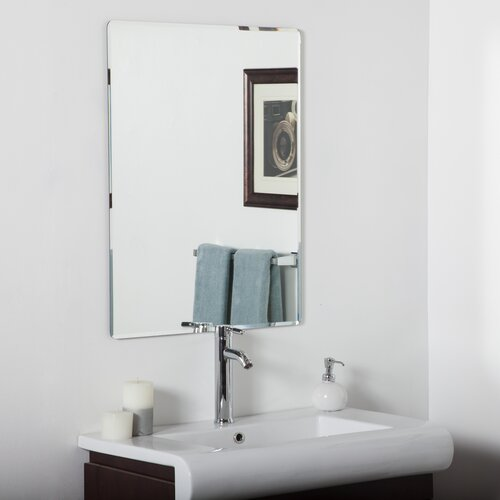 vera frameless bathroom mirror wayfair
