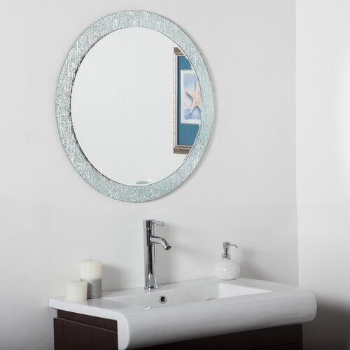 Decor Wonderland Molten Round Bathroom Mirror & Reviews
