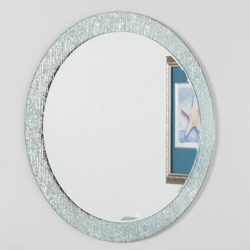 Round bathroom mirror wayfair for Round bathroom wall mirrors