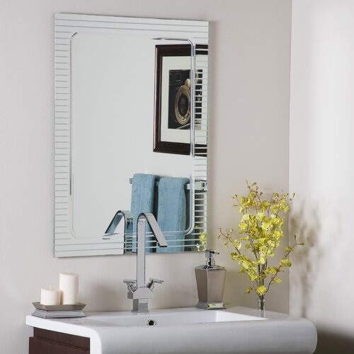 Decor Wonderland Frameless V-Groove Mirror