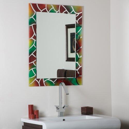 Abstract Frameless Wall Mirror