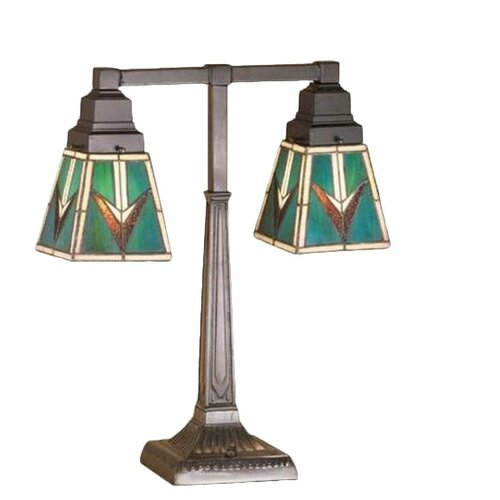 Meyda Tiffany Valencia Mission 2 Arm Table Lamp