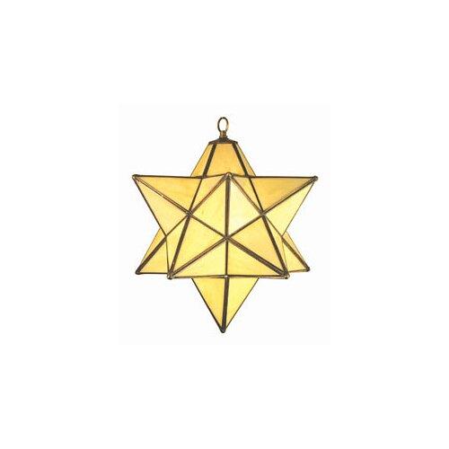 Mission Moravian 1 Light Iridescent Pendant