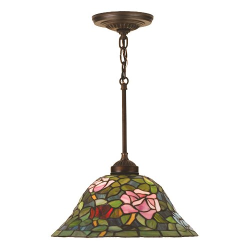 Meyda Tiffany Tiffany Nouveau 1 Light Rosebush Pendant