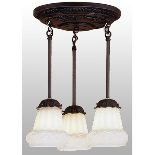 3 Light Shower Semi Flush Mount