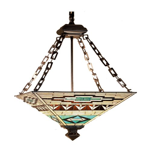 Mission Southwest Valencia 4 Light Inverted Pendant