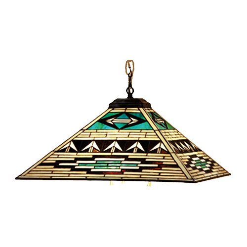 Mission Tiffany Prairie Southwest Valencia 4 Light Pendant