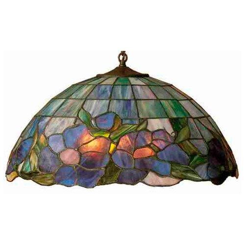 Art Glass 1 Light Posy Pendant