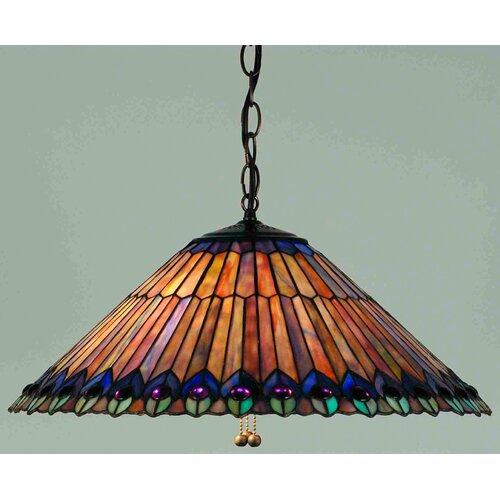Victorian Tiffany 3 Light Pendant