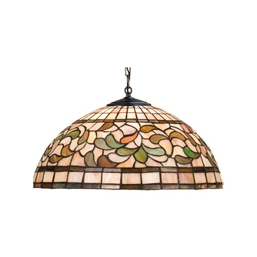 Meyda Tiffany Tiffany Nouveau 3 Light Leaf Pendant