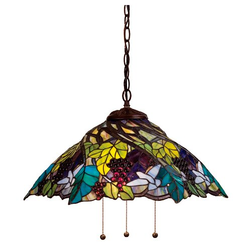 Meyda Tiffany Tiffany 3 Light Grape Pendant